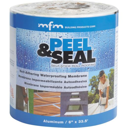 MFM Peel & Seal 6 In. X 33.5 Ft. Aluminum Roofing Membrane