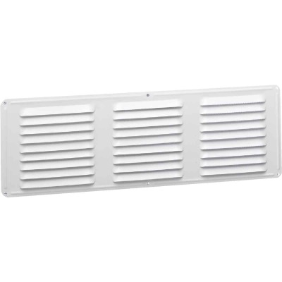 Air Vent 16 In. x 6 In. White Aluminum Under Eave Vent