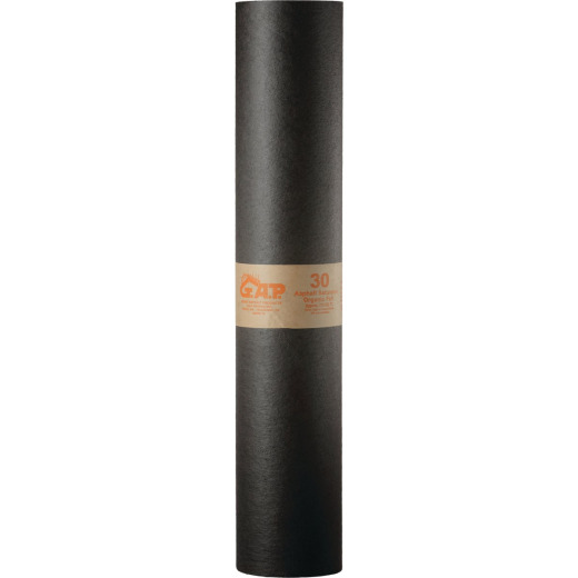 G.A.P. 36 In. x 72 Ft. Non-Rated 30 lb Roof Felt, Asphalt Saturated