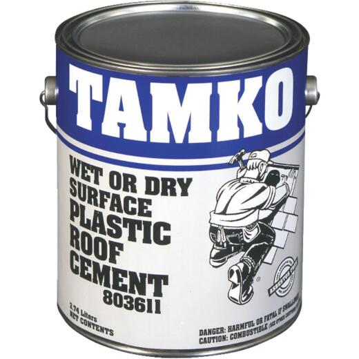 Tamko 1 Gal. Wet or Dry Surface Roof Cement