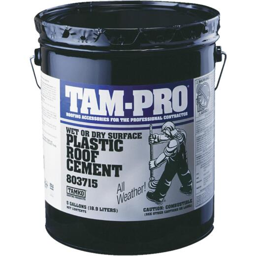 Tamko 5 Gal. Wet or Dry Surface Roof Cement