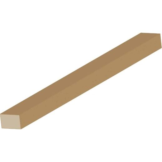 Cedar Creek WM254 1/2 In. W. x 3/4 In. H. x 8 Ft. L. Solid Pine Parting Stop Molding