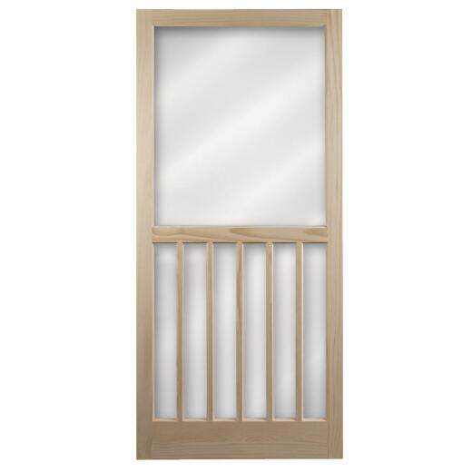 Snavely Kimberly Bay 36 In. W x 80 In. H x 1 In. Thick Natural Pine Wood 5-Bar Screen Door