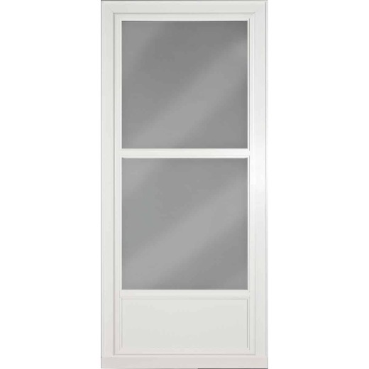Larson Easy Vent 146 Series 36 In. W x 81 In. H x 1-7/8 In. Thick White Mid View Aluminum Storm Door