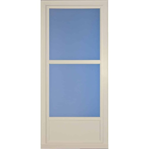 Larson Easy Vent 146 Series 36 In. W x 81 In. H x 1-7/8 In. Thick Almond Mid View Aluminum Storm Door