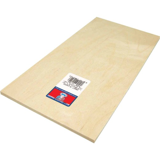Midwest Products 1/4 In. x 6 In. x 12 In. Birch Plywood