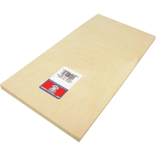 Midwest Products 3/8 In. x 6 In. x 12 In. Birch Plywood