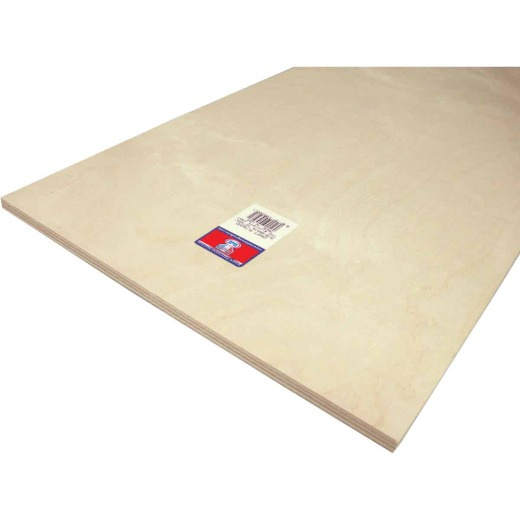 Midwest Products 3/8 In. x 12 In. x 24 In. Birch Plywood