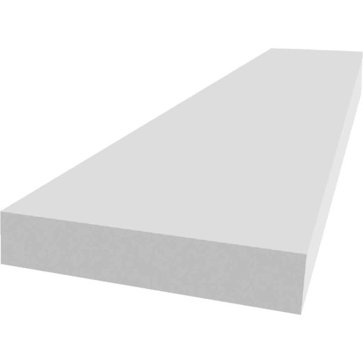 Royal Trimplank 1 In. x 6 In. x 8 Ft. White PVC Board
