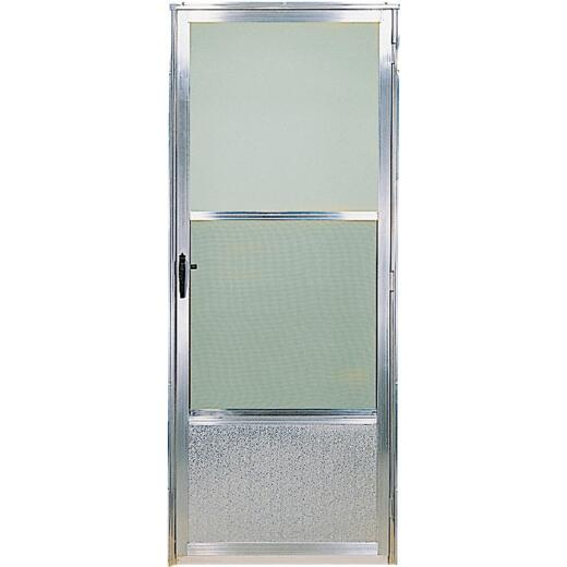 Croft Imperial Style 30 In. W x 80 In. H x 1 In. Thick Mill Self-Storing Aluminum Storm Door
