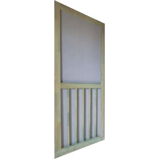 Snavely Kimberly Bay 36 In. W x 80 In. H x 1-1/8 In. Thick ACQ Treated Natural Finger Joint Pine Stiles & Rails 5-Bar Screen Door