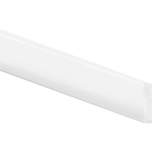 Inteplast Building Products 2-1/2 In. x 8 Ft. Crystal White Polystyrene Flat Molding