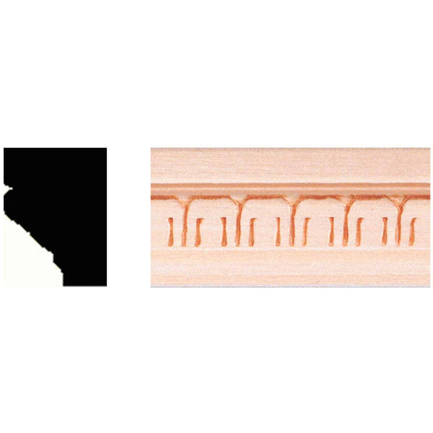 House of Fara 3/4 In. x 1 In. x 8 Ft. Hardwood Decorative Molding Image 1
