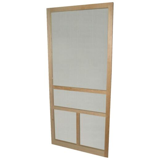 Snavely 32 In. W x 80 In. H x 1-1/8 In. Thick Natural Solid Pine Wood T-Bar Screen Door