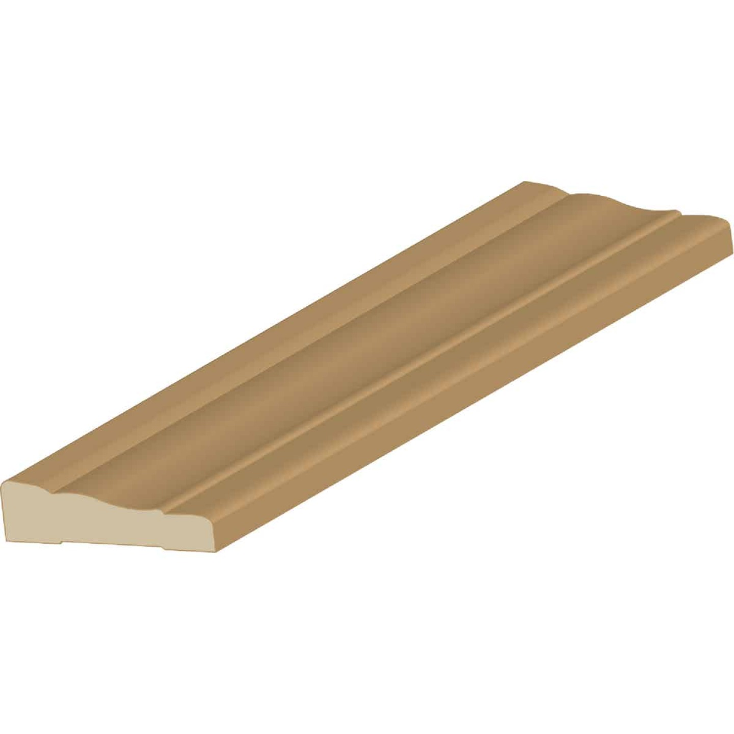 Cedar Creek WM356 11/16 In. W. x 2-1/4 In. H. x 7 Ft. L. Natural Finger Joint Pine Colonial Casing Molding Image 1