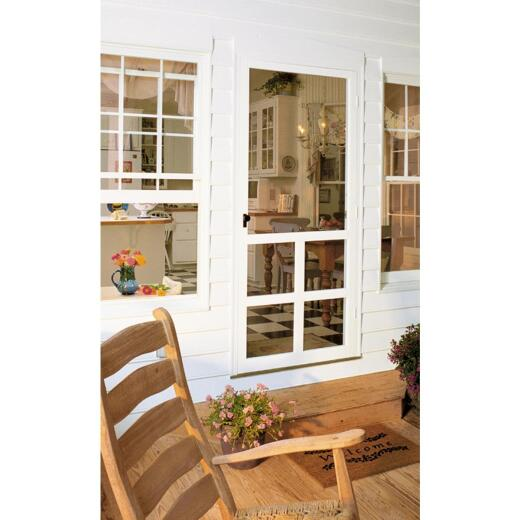 Snavely Kimberly Bay Victoria 32 In. W x 80 In. H x 1 In. Thick White Vinyl Screen Door