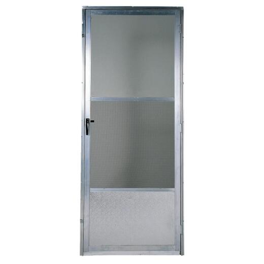 Croft Imperial Style 32 In. W x 80 In. H x 1 In. Thick Mill Self-Storing Aluminum Storm Door