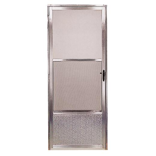 Croft Imperial Style 36 In. W x 80 In. H x 1 In. Thick Mill Self-Storing Aluminum Storm Door