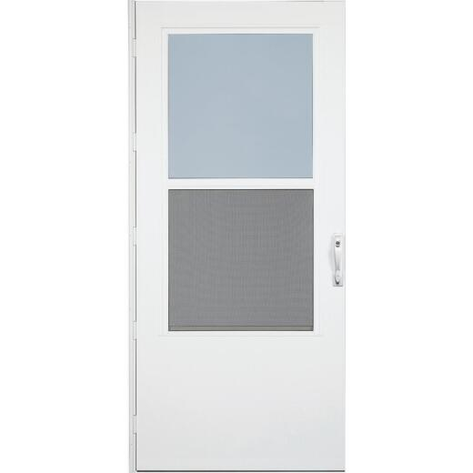 Larson Life-Core DuraTech 36 In. W x 80 In. H x 1 In. Thick White Self-Storing Storm Door