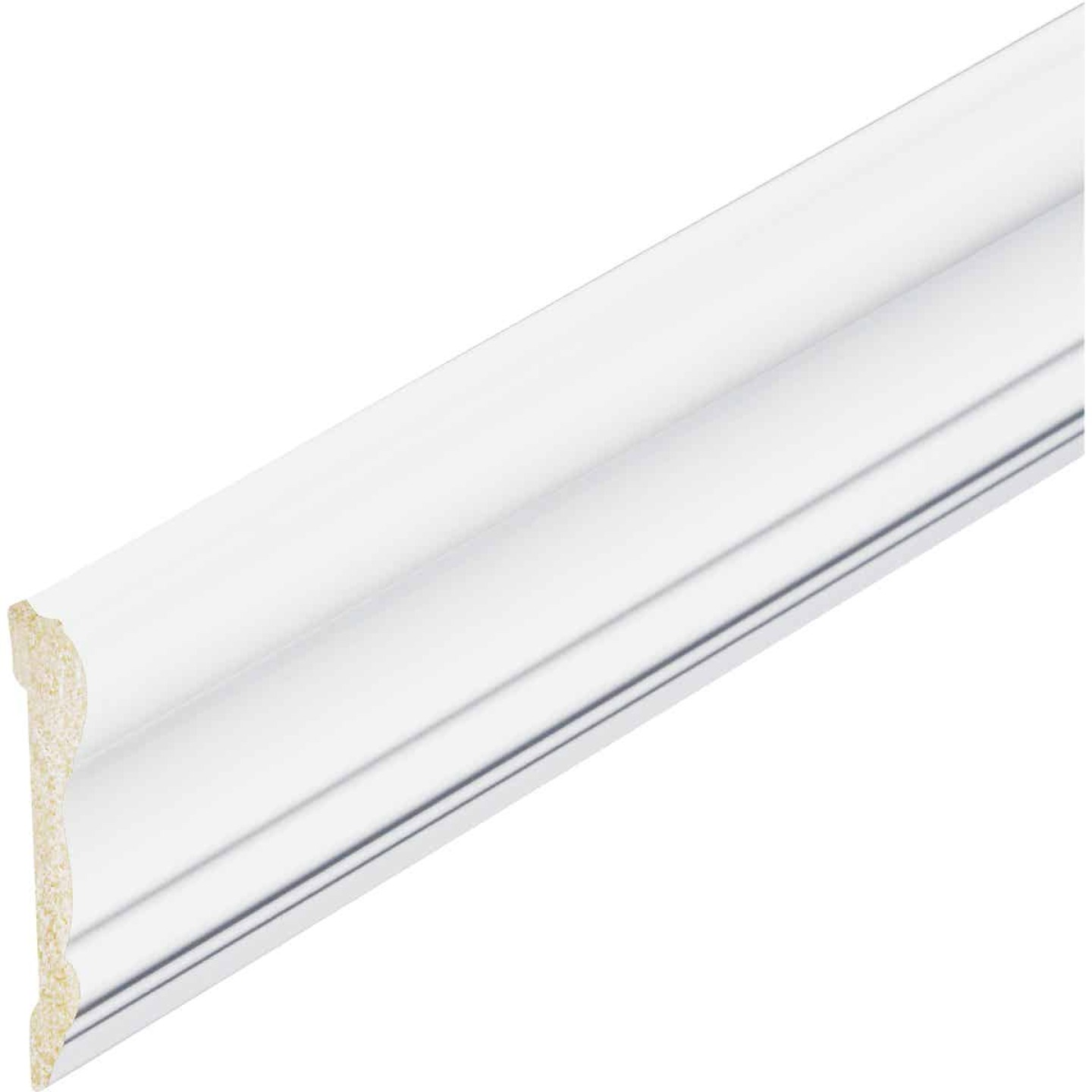 Inteplast Building Products 5/8 In. x 2-5/8 In. x 8 Ft. Crystal White Polystyrene Chair Rail Molding Image 2
