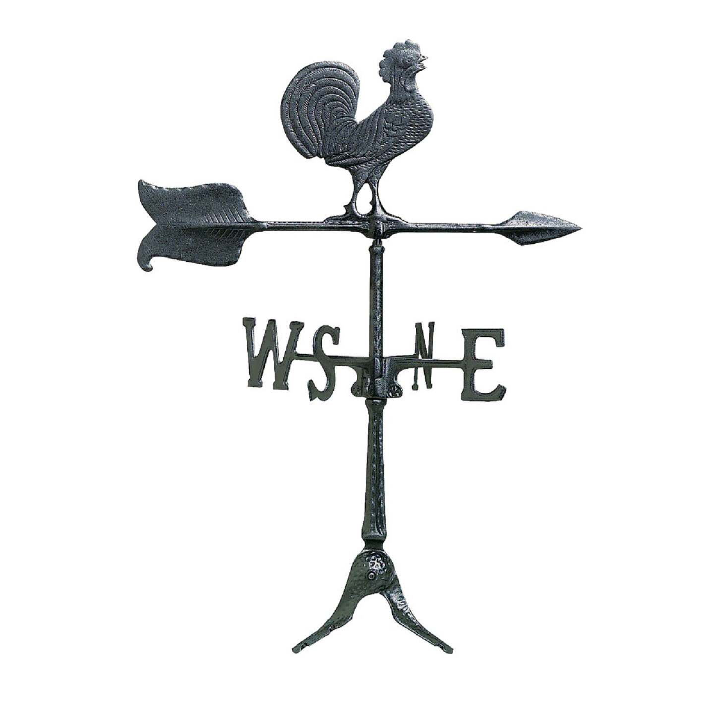 Whitehall Products 24 In. Black Aluminum Rooster Weather Vane Image 1