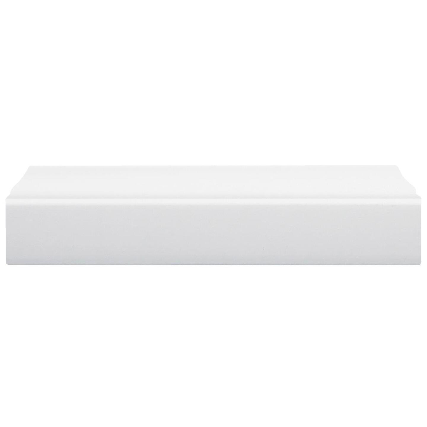 Inteplast Building Products 3/8 In. W. x 1-5/16 In. H. x 7 Ft. L. Crystal White Polystyrene Stop Molding Image 4