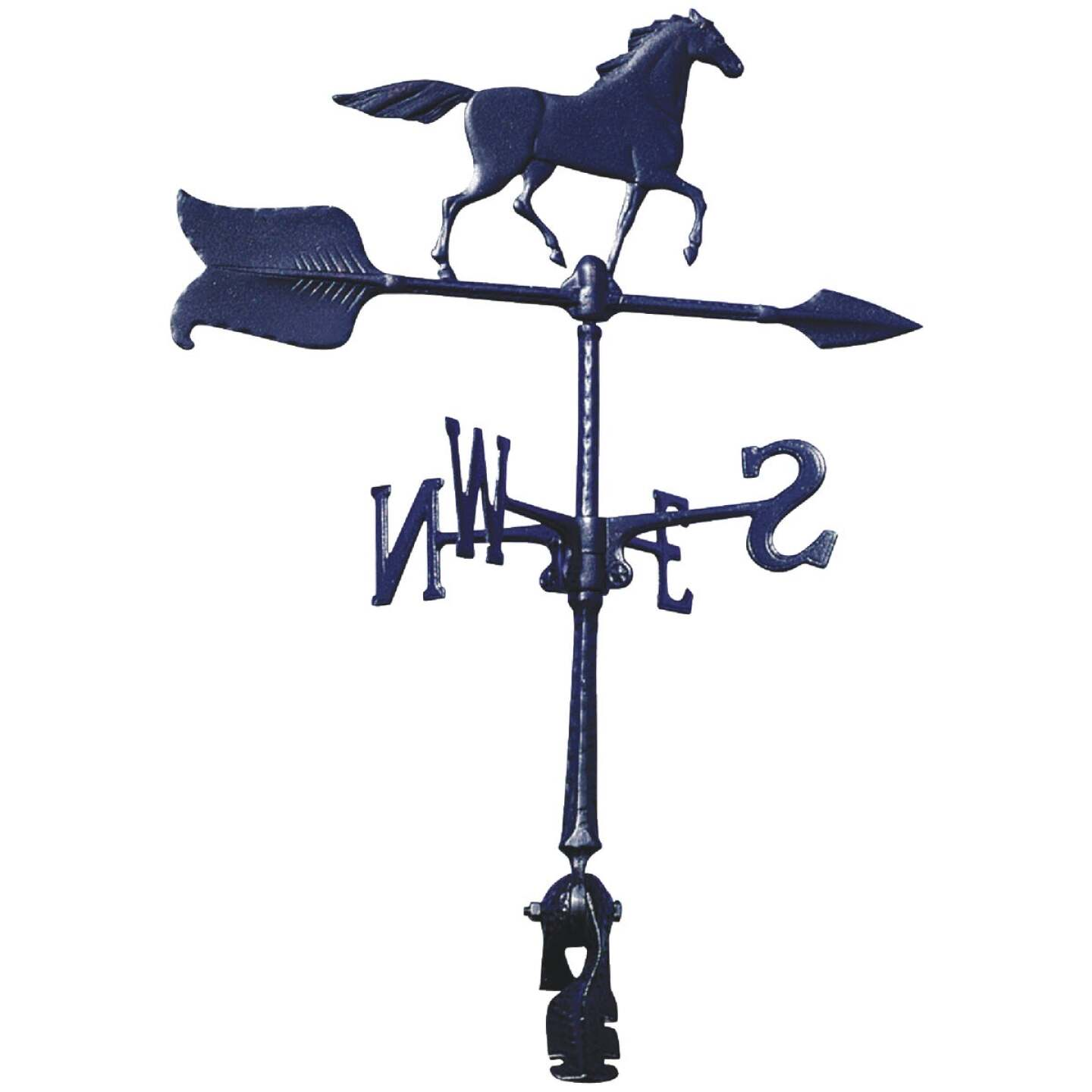 Whitehall Products 24 In. Black Aluminum Horse Weather Vane Image 1