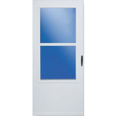 Larson 32 In. W x 80 In. H x 1 In. Thick White Self-Storing Vinyl Storm Door