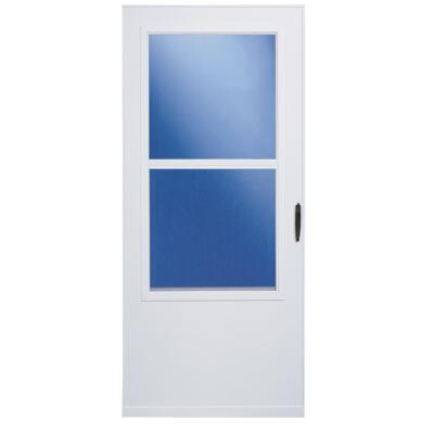 Larson 36 In. W x 80 In. H x 1 In. Thick White Self-Storing Vinyl Storm Door