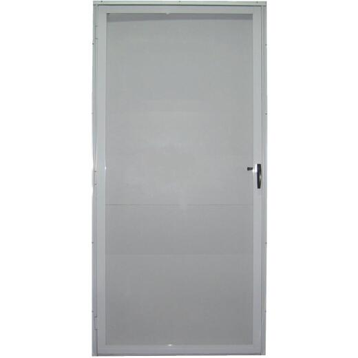 Croft Imperial Style 32 In. W x 80 In. H x 1-7/8 In. Thick White Full View Aluminum Storm Door