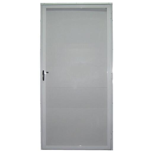 Croft Imperial Style 36 In. W x 80 In. H x 1-7/8 In. Thick White Full View Aluminum Storm Door
