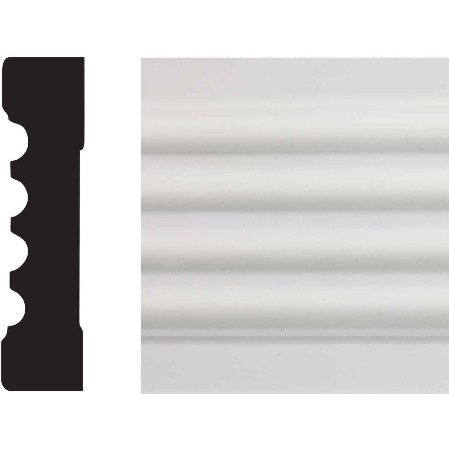 House of Fara 3/4 In. W. x 3 In. H. x 8 Ft. L. White MDF Fluted Casing Molding Image 1