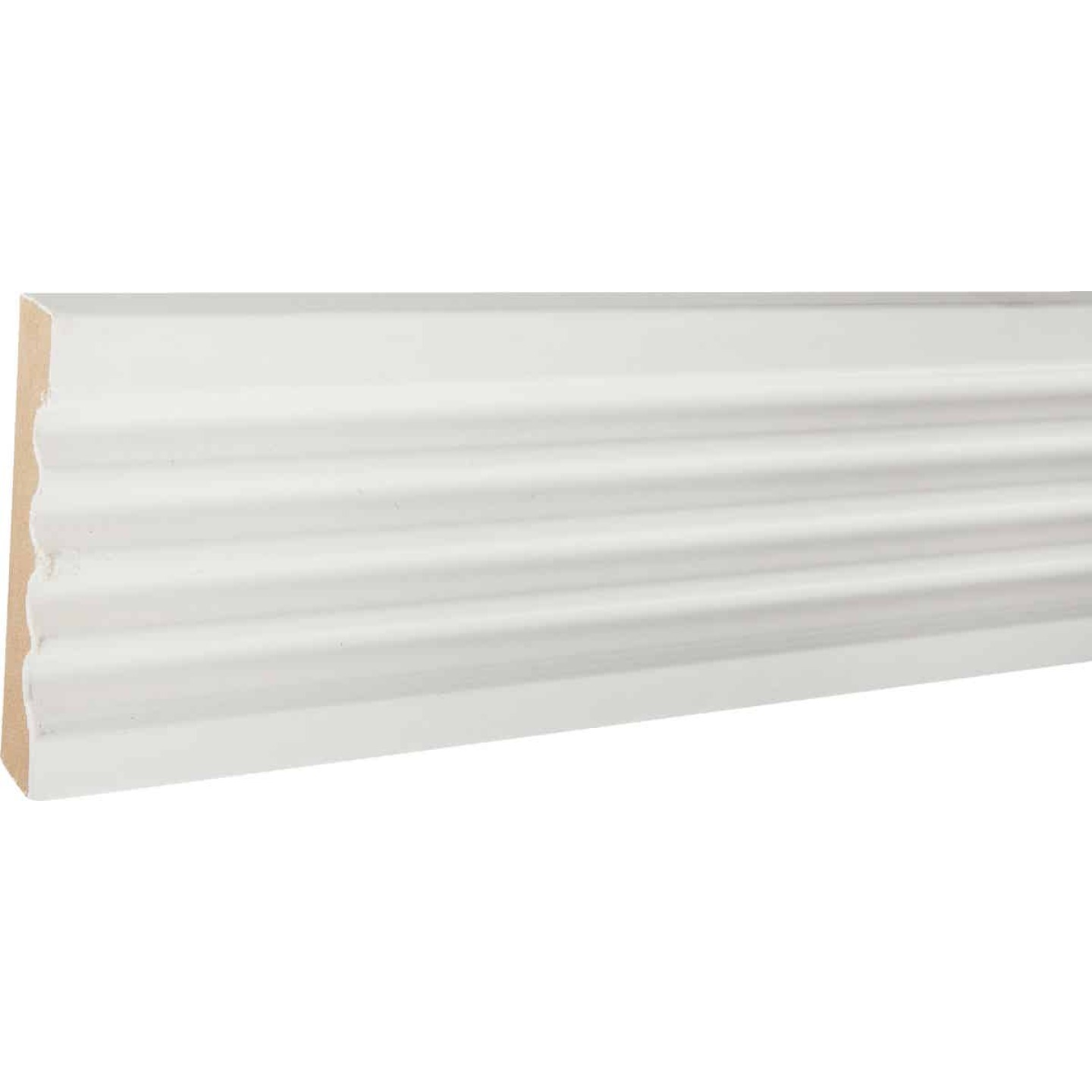 House of Fara 3/4 In. W. x 3 In. H. x 8 Ft. L. White MDF Fluted Casing Molding Image 2