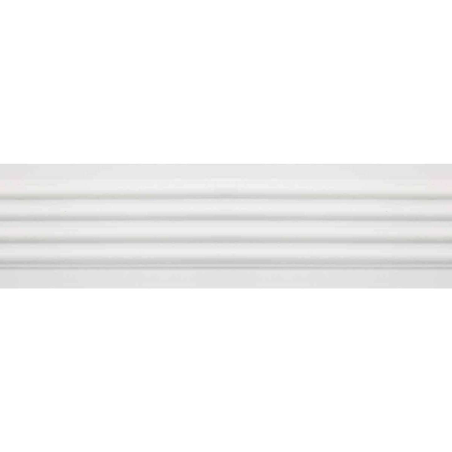 House of Fara 3/4 In. W. x 3 In. H. x 8 Ft. L. White MDF Fluted Casing Molding Image 3