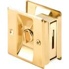 Prime-Line Brass Pocket Door Lock Pull Image 2