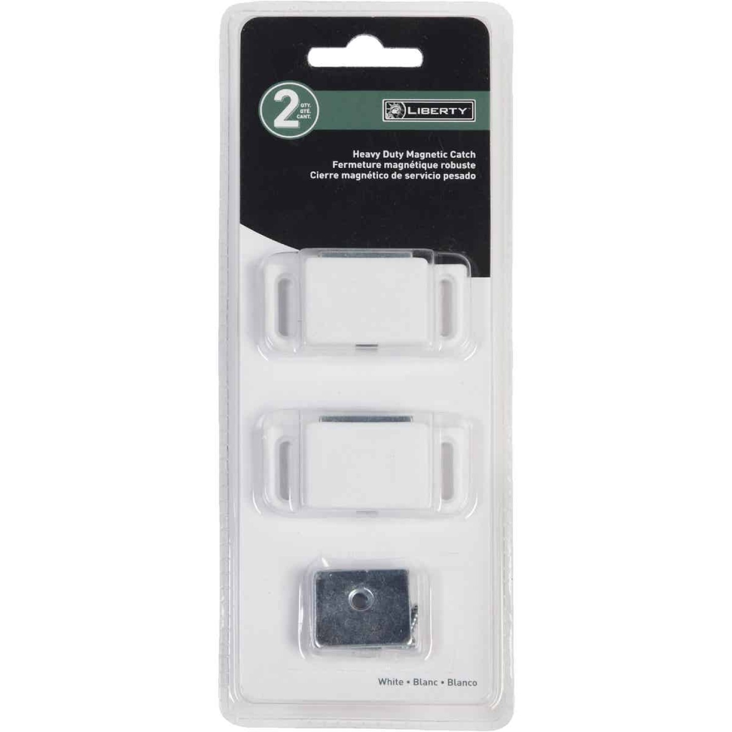 Liberty White Heavy-Duty Magnetic Catch with Strike (2-Count) Image 2