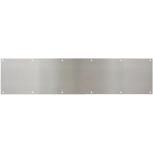 National 8 In. x 34 In. Satin Nickel Aluminum Kickplate