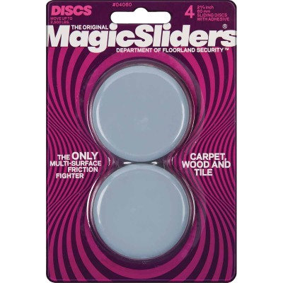 Magic Sliders 2-3/8 In. Round Adhesive Furniture Glide,(4-Pack)