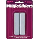 Magic Sliders 1 In. x 4 In. Rectangle Self Adhesive Furniture Glide,(4-Pack) Image 1