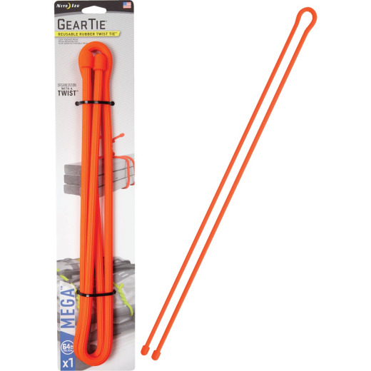 GearTie 64 In. Orange Rubber Mega Twist Tie
