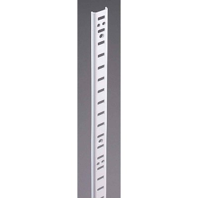Knape & Vogt 255 Series 36 In. Zinc-Plated Steel Mortise-Mount Pilaster Shelf Standard