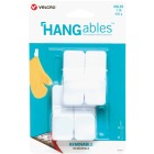 Velcro Brand Hangables 1 Lb. Capacity White Removable Small Hook (4 Count) Image 1