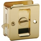 Schlage Privacy Polished Brass Pocket Door Lock Pull Image 1