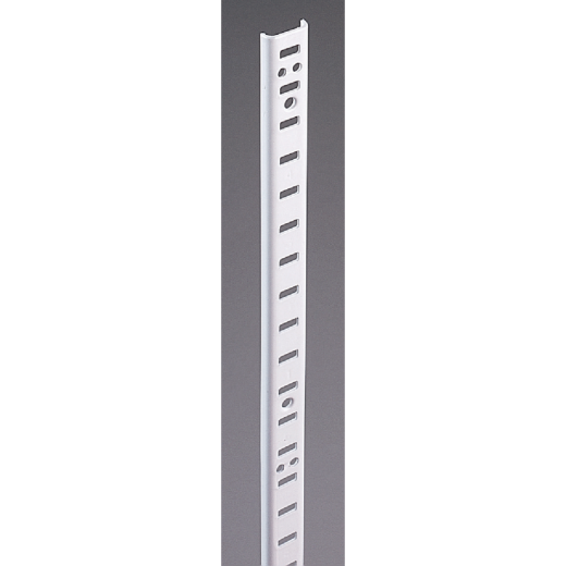 Knape & Vogt 255 Series 72 In. Zinc-Plated Steel Mortise-Mount Pilaster Shelf Standard