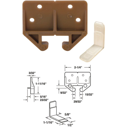 Prime-Line 2-1/4 In. W. Polyethylene Track Guide (2-Count)