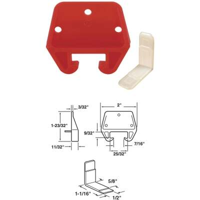 Prime-Line 2-1/2 In. W. Plastic Track Guide (2-Count)