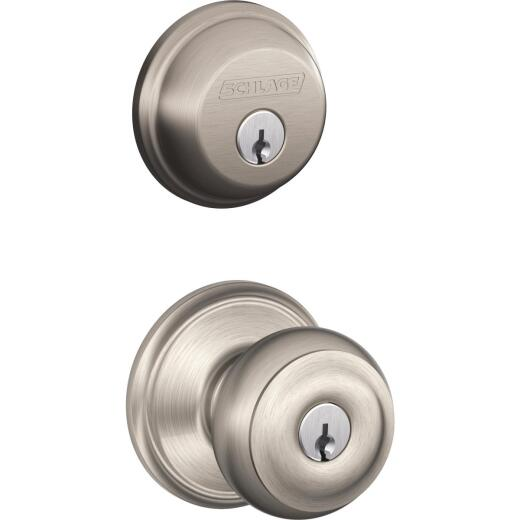 Schlage Satin Nickel Deadbolt and Door Knob Combo