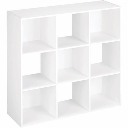 ClosetMaid Cubeicals White 9-Cube Storage Stacker Organizer