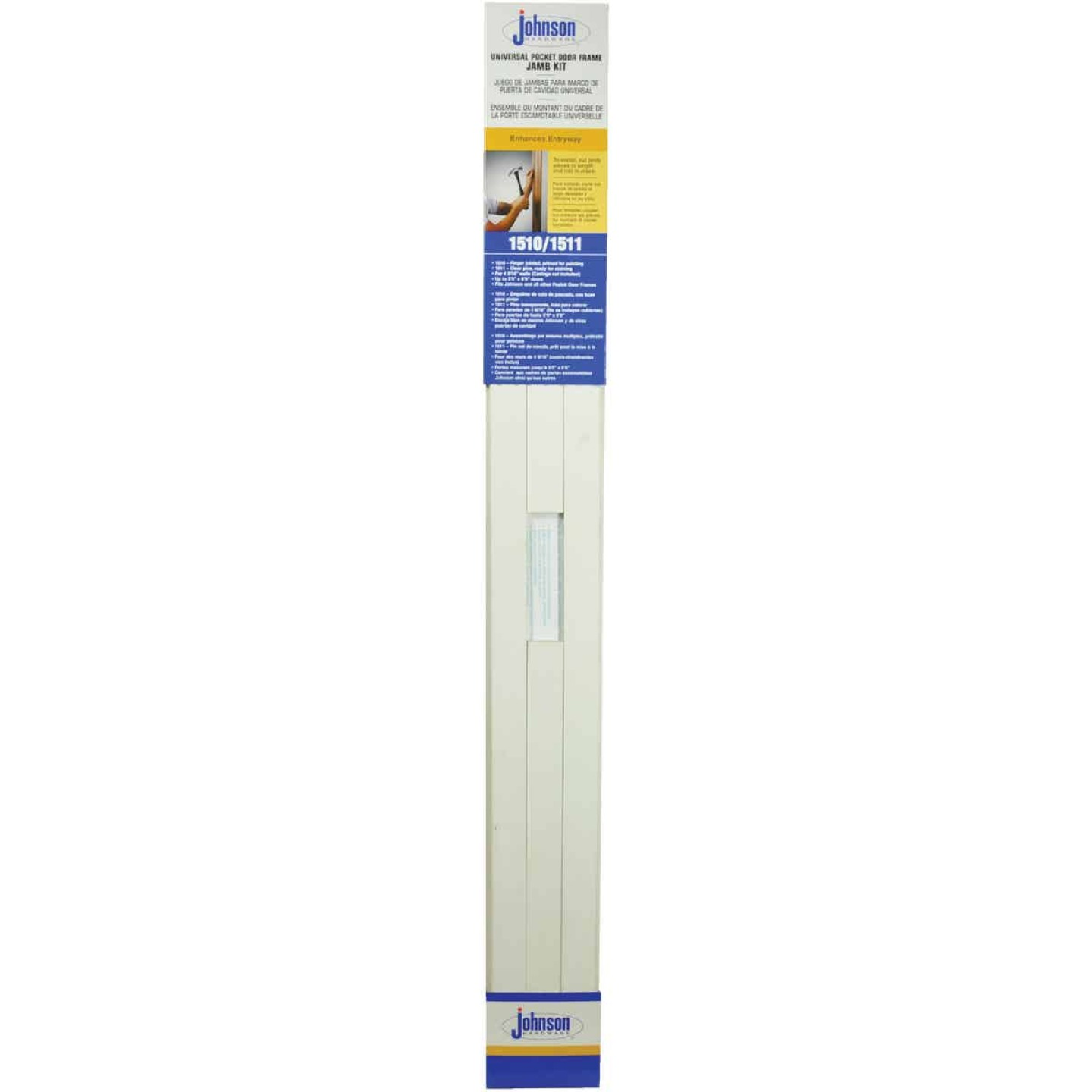 Johnson Hardware 1510 Series 36 In. To 80 In. White Pocket Door Frame Image 2