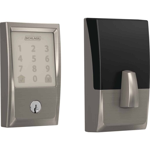 Schlage Encode Smart WiFi Deadbolt with Satin Nickel Century Trim